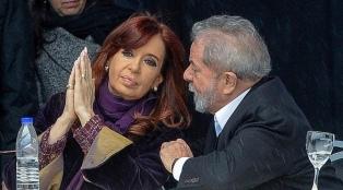 """Cristina Kirchner pidió la liberación de Lula da Silva porque """"la acusación se desmoronó"""""""