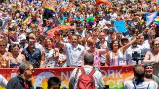 Una multitud marchó en Nueva York en el cierre de la semana del orgullo gay