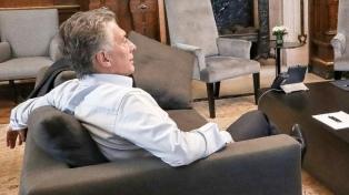 Macri asiste a la botadura de un buque y recibe a empresarios en la Casa Rosada