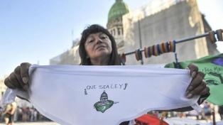 Movilizaciones en el Congreso y en todo el país para reclamar por el aborto legal