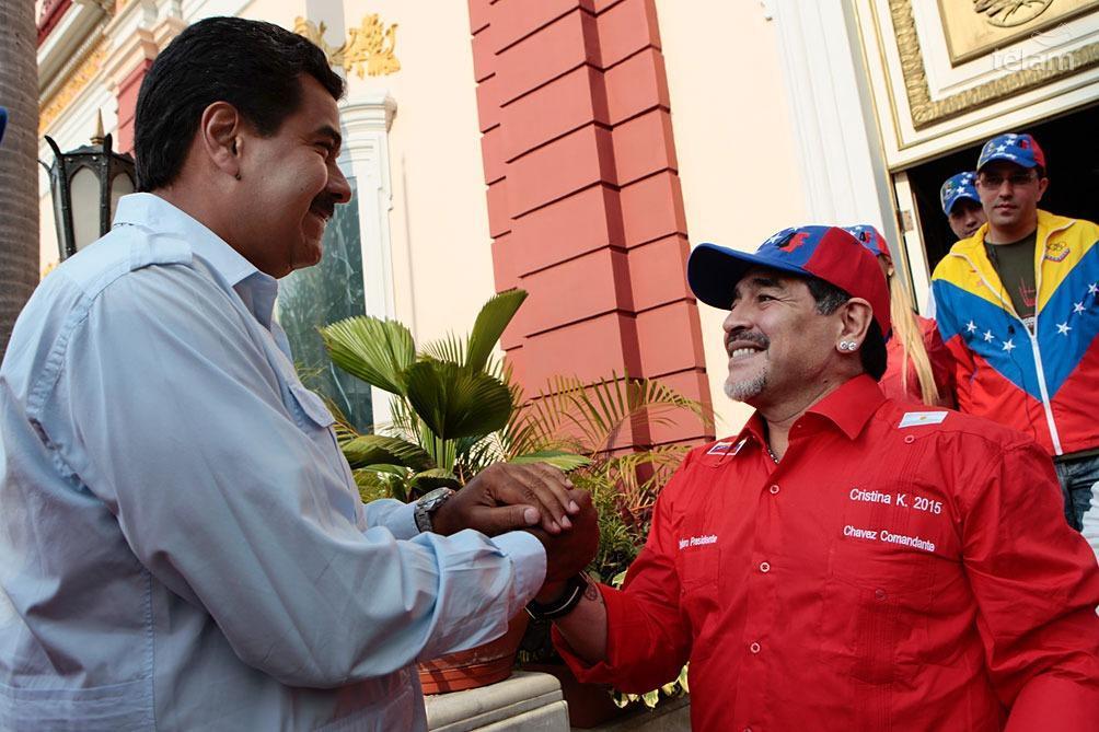 Maduro recordó la amistad de Maradona con el comandante Hugo Chávez
