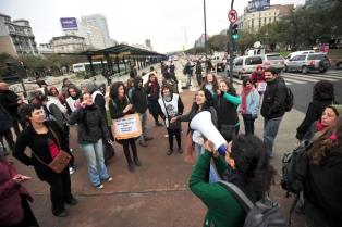 Marcha por la 9 de Julio, con incidentes, corridas y detenidos