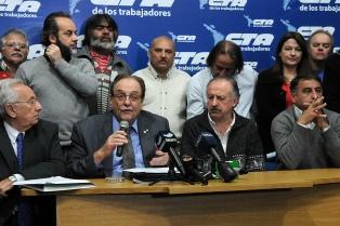 La CTA expresó su apoyo al proyecto para gravar la renta financiera