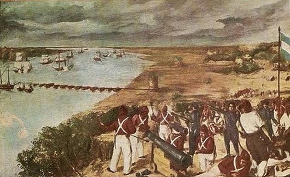 Retrato de la Batalla de la Vuelta de Obligado.