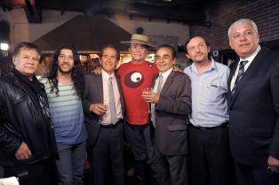 Bruno Arias y Jorge Rojas, en la apertura de un nuevo Cosquín