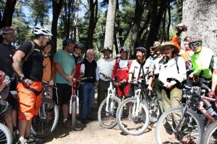 Inauguraron el primer sendero de mountain bike en un área protegida