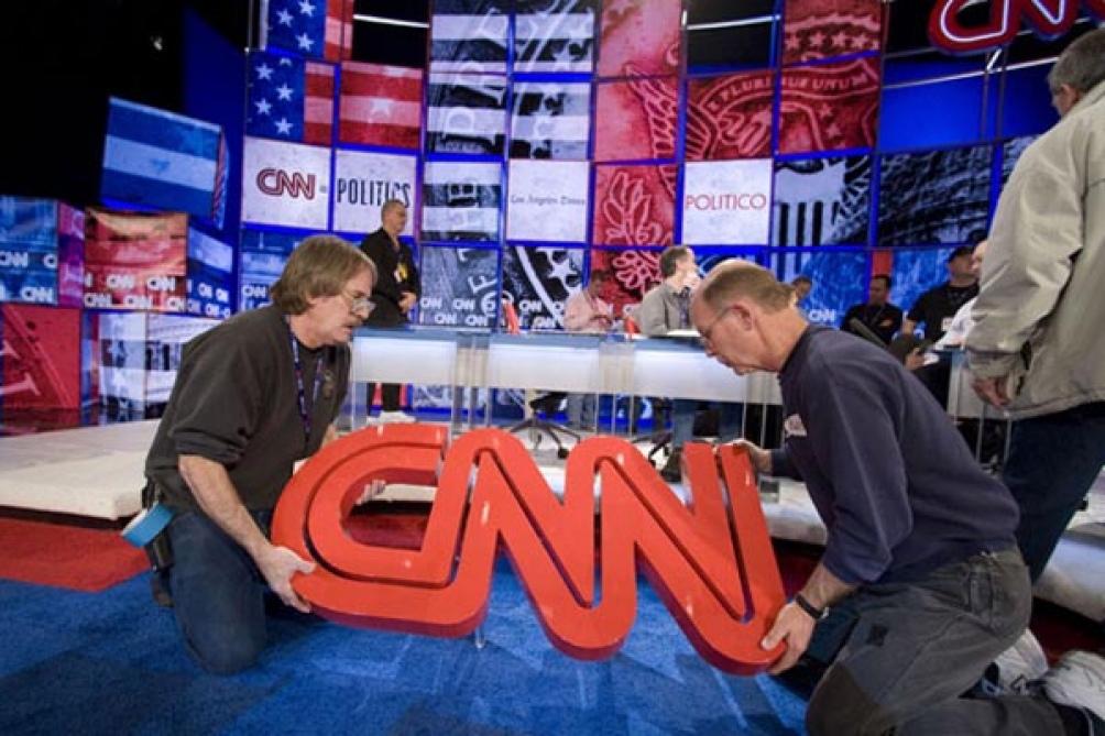 La cadena de noticias CNN fue la que experimentó la caída más repentina entre enero y marzo.