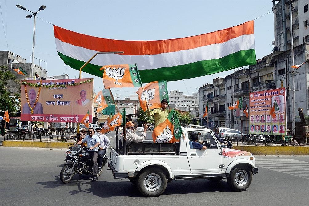 Campaña del partido nacionalista BJP de Narendra Modi