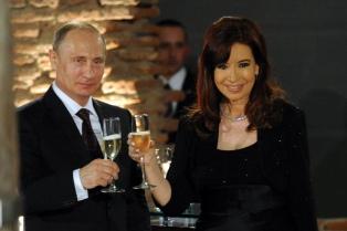 La Presidenta le agradeció a Vladimir Putin el apoyo por las Islas Malvinas