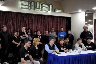 Los trabajadores del Bauen piden que los legisladores traten los proyectos de expropiación