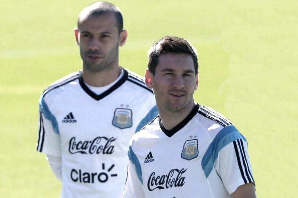 Messi y Mascherano en el Mundial Brasil 2014.