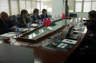 El presidente de Télam visitó una empresa de medición del rating chino