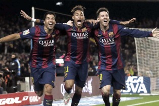 Messi, Neymar y Suárez: las tres grandes estrellas del firmamento sudamericano