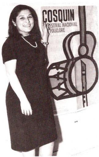 """""""La negra"""" hizo su debut en el Festival de Folclore de Cosquín, en 1965."""