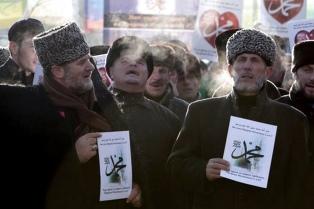 Un millón de chechenos protestaron  contra las caricaturas de Mahoma