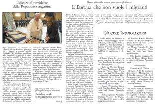 """El """"Osservatore Romano"""" destacó la reunión de Cristina y Francisco"""