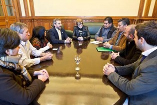 Teresa Parodi y Martín Fresneda se reunieron con referentes del Parlamento Mapuche