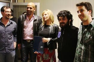 Verón, Saintout y Tignanelli firmaron un acuerdo para fomentar el deporte