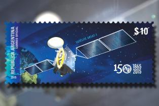 El Correo Argentino lanzó un sello postal con la imagen del Arsat-1