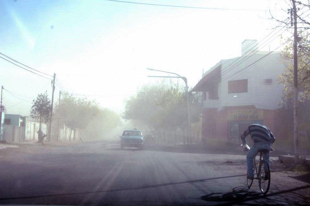 El SMN recomendó evitar la inhalación del polvo suspendido en el aire y no generar fuego.