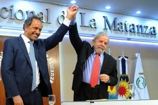 Lula fue distinguido con el Doctorado Honoris Causa de la Universidad Nacional de La Matanza