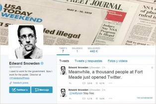 A dos años de destapar el escándalo, Snowden abrió una cuenta de Twitter