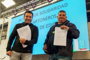 Acuerdo de solidaridad entre cartoneros y encargados de edificios