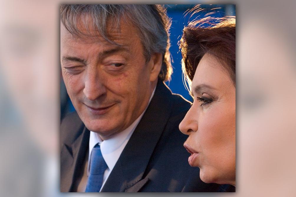 Una foto de Néstor y Cristina Kirchner juntos.