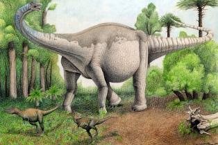 Presentaron el fósil del dinosaurio Notocolossus, un titán de 60 toneladas