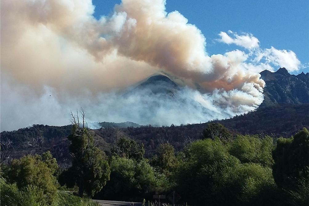 El Servicio Nacional de Manejo del Fuego informó el estado de los incendios.