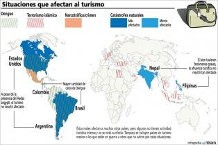 El clima, las epidemias y el terrorismo afectan al turismo en todo el mundo