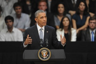 """""""Pueden crear el mundo como quieren que sea"""", dijo Obama a los jóvenes"""