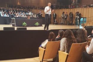 Estuve ahí. Diálogo de jóvenes con Barack Obama en la Usina del Arte