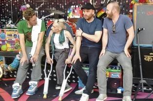 """Es baterista, tiene una lesión medular y tocó con Coldplay: """"Todavía estoy temblando"""""""
