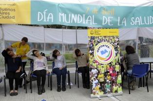 Jornada de concientización y talleres en la Plaza Houssay por el Día Mundial de la Salud