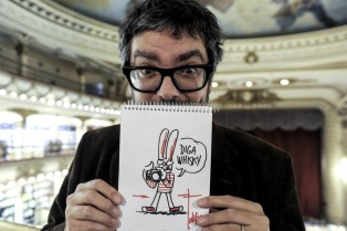 Los dibujantes Liniers y Montt cierran su gira nacional de stand up