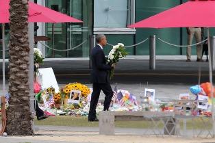 Obama visitó Orlando para brindar sus condolencias a los familiares de las víctimas