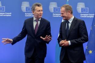 Macri destacó el buen clima con la UE y el avance en un acuerdo con el Mercosur