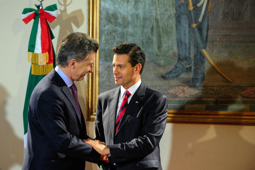 En 2016, Peña Nieto y el entonces presidente Mauricio Macri se reunieron en el Foro Económico Mundial.