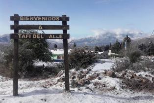 Tucumán: por el frío y la nieve se suspendieron las clases en Tafí del Valle