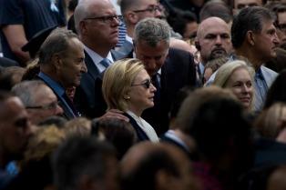 Clinton y Trump recordaron en silencio en la Zona Cero los atentados del 11S