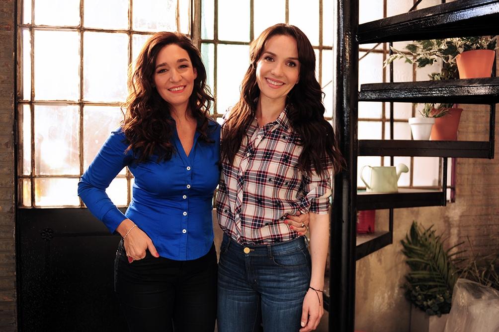 Oreiro junto a la directora Lorena Muñoz durante el rodaje. (Foto: Habitaciòn 1520)