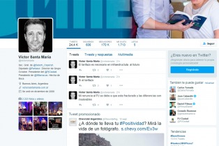 Victor Santa María denunció que hackearon su cuenta de Twitter y desmintió la renuncia al gremio y al PJ