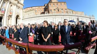 Macri y Awada estuvieron en la primera fila en la canonización