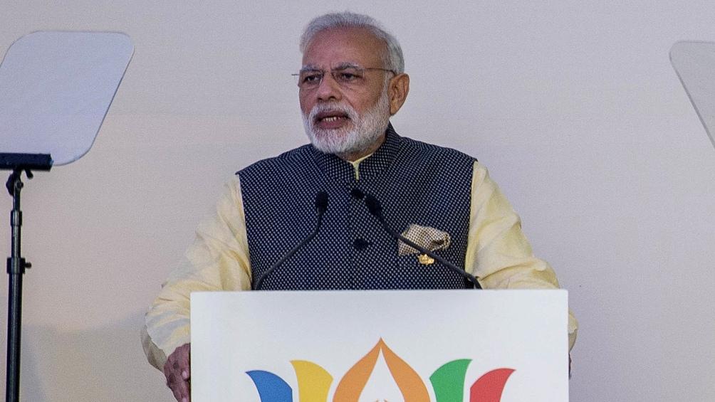 Narendra Modi, primer ministro de la República de la India desde mayo de 2014