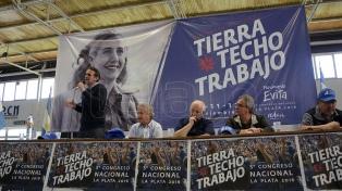 Con críticas a Cristina Kirchner, el Movimiento Evita convocó a un acto para renovar el apoyo a Randazzo