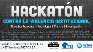 Convocan a la primera hackatón para visualizar la violencia institucional mediante piezas interactivas y apps