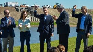 El Presidente anunció una nueva etapa del plan de obras hídricas en la cuenca del río Salado