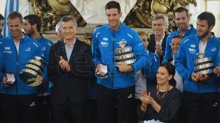 Macri recibió al equipo de Copa Davis