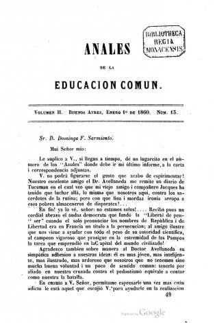 Relanzan una revista educativa fundada por Sarmiento en 1858